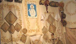 Wystawa haftu borowiackiego, źródło: tuchola.pl