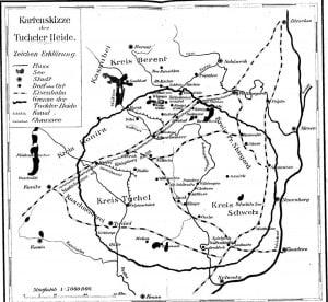 Niemiecki szkic - mapa Borów Tucholskich
