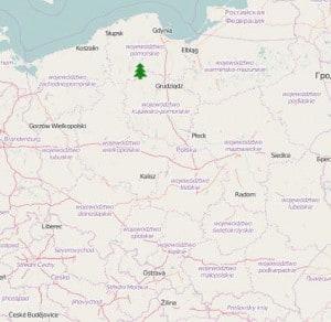 Położenie Tucholi na mapie Polski