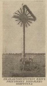 Przydrożny krzyż w okolicach Gostycyna