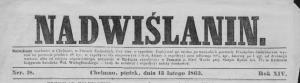 Nadwiślanin 1863 - Mieszkańcy pruskiego Pomorza